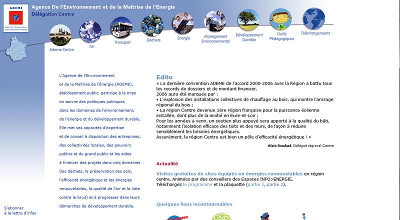 Sites internet antérieurs à 2009