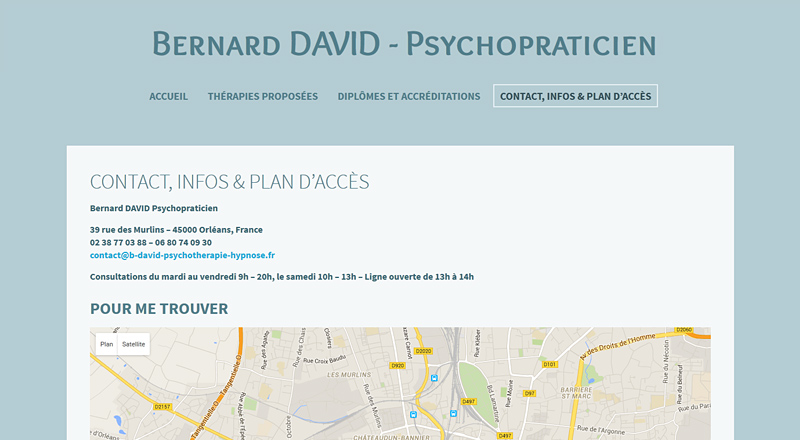Bernard DAVID Psychopraticien