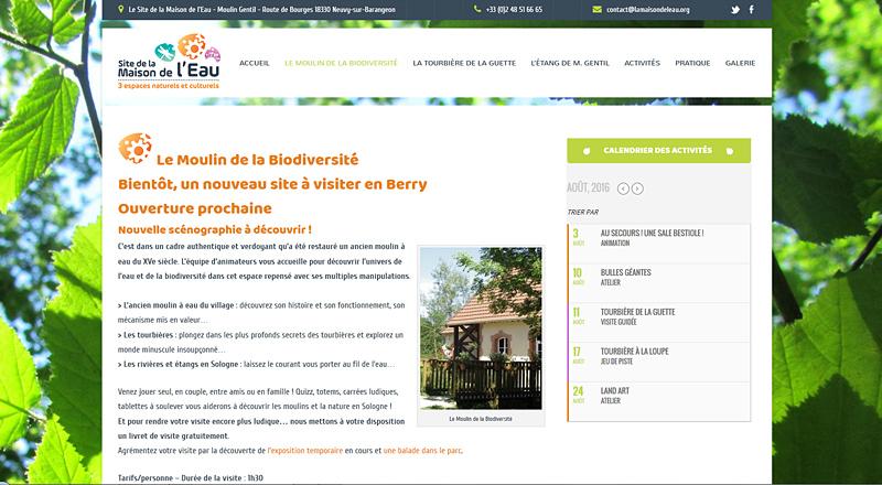 Le Site de la Maison de l'Eau