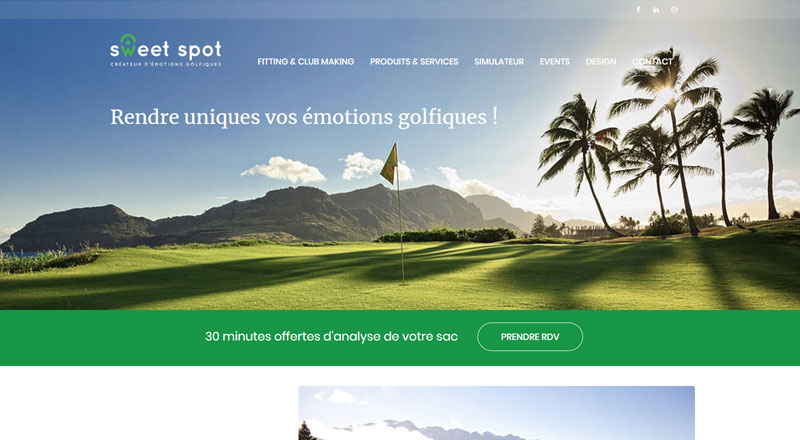 Sweet Spot – Magasin de golf Orléans