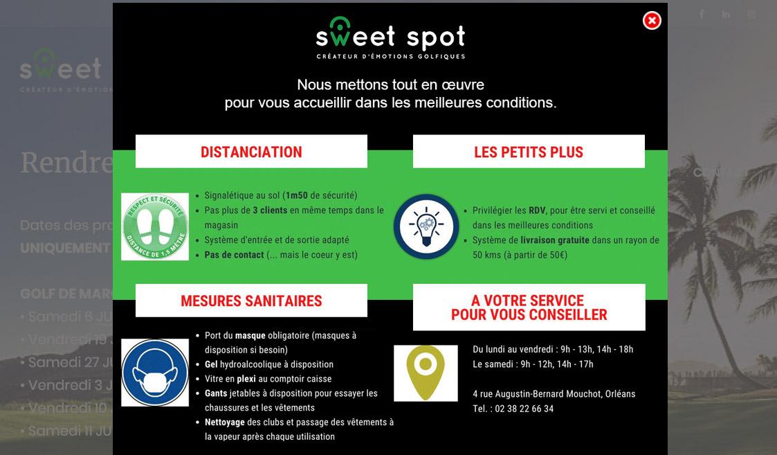 Sweet Spot – Magasin de golf Orléans